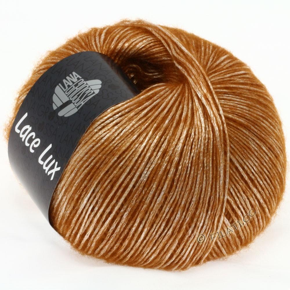 Lana Grossa LACE Lux | 38-cognac meleret