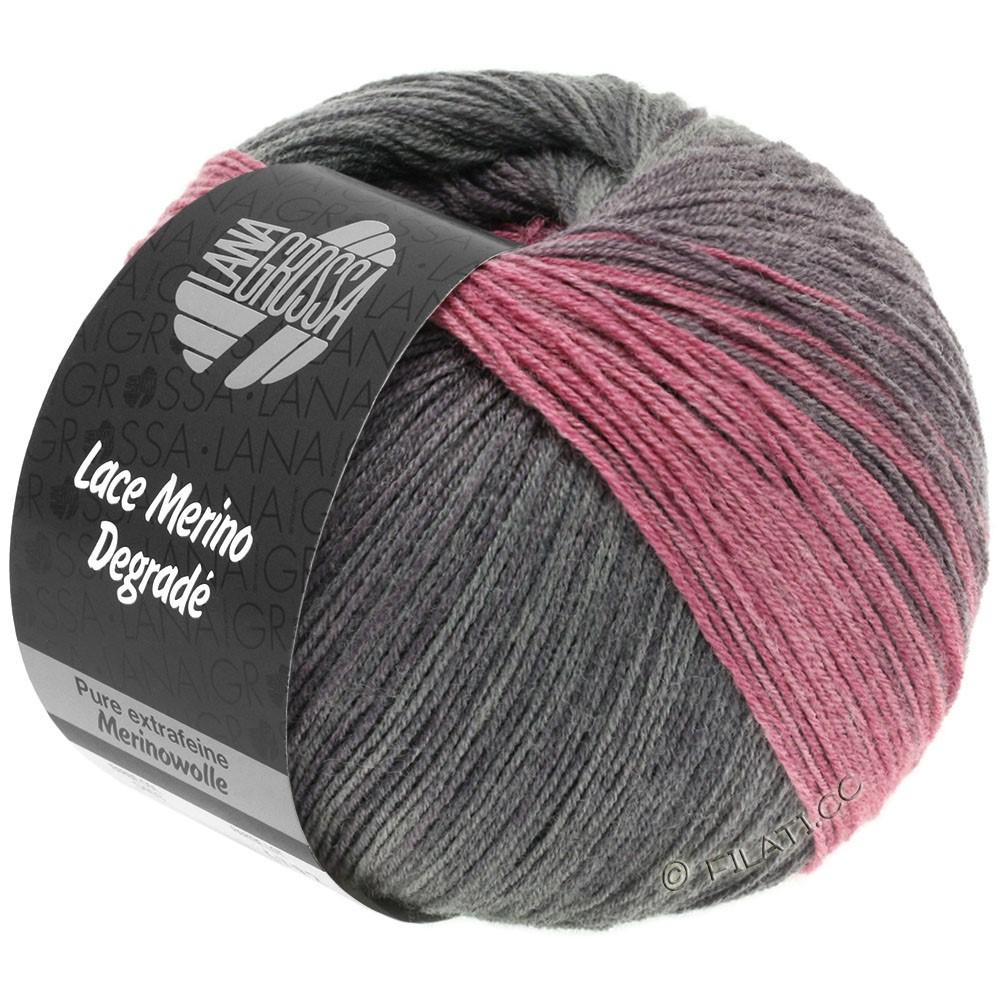 Lana Grossa LACE Merino Degradé | 405-brombær/antracit/grå violet/gammelrosa