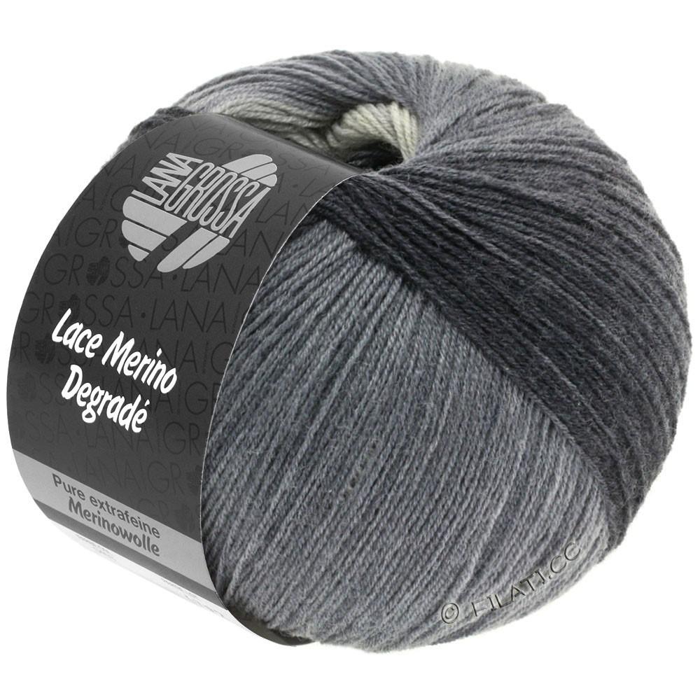 Lana Grossa LACE Merino Degradé | 408-lysegrå/gennemsnit grå/mørkegrå/antracit