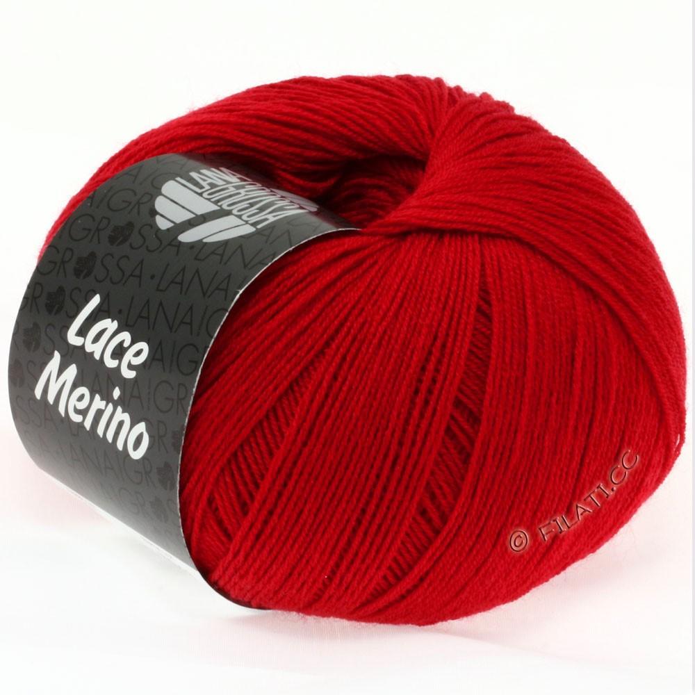 Lana Grossa LACE Merino  Uni | 01-rød