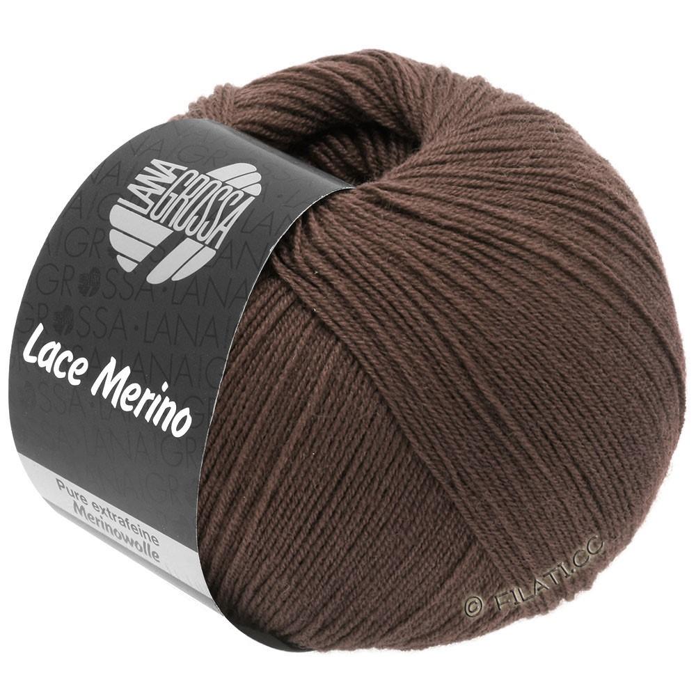 Lana Grossa LACE Merino  Uni | 63-chokoladebrun