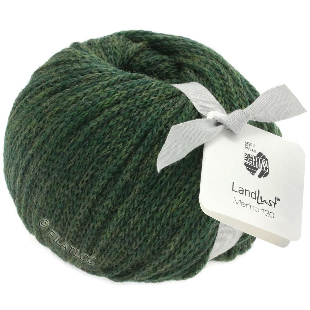 Lana Grossa LANDLUST MERINO 120   115-mosgrøn