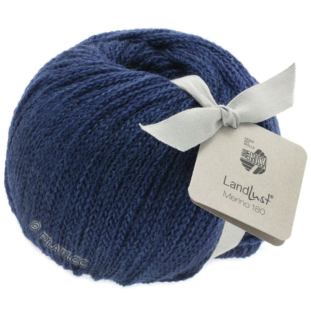 Lana Grossa LANDLUST MERINO 180 | 208-mørkeblå