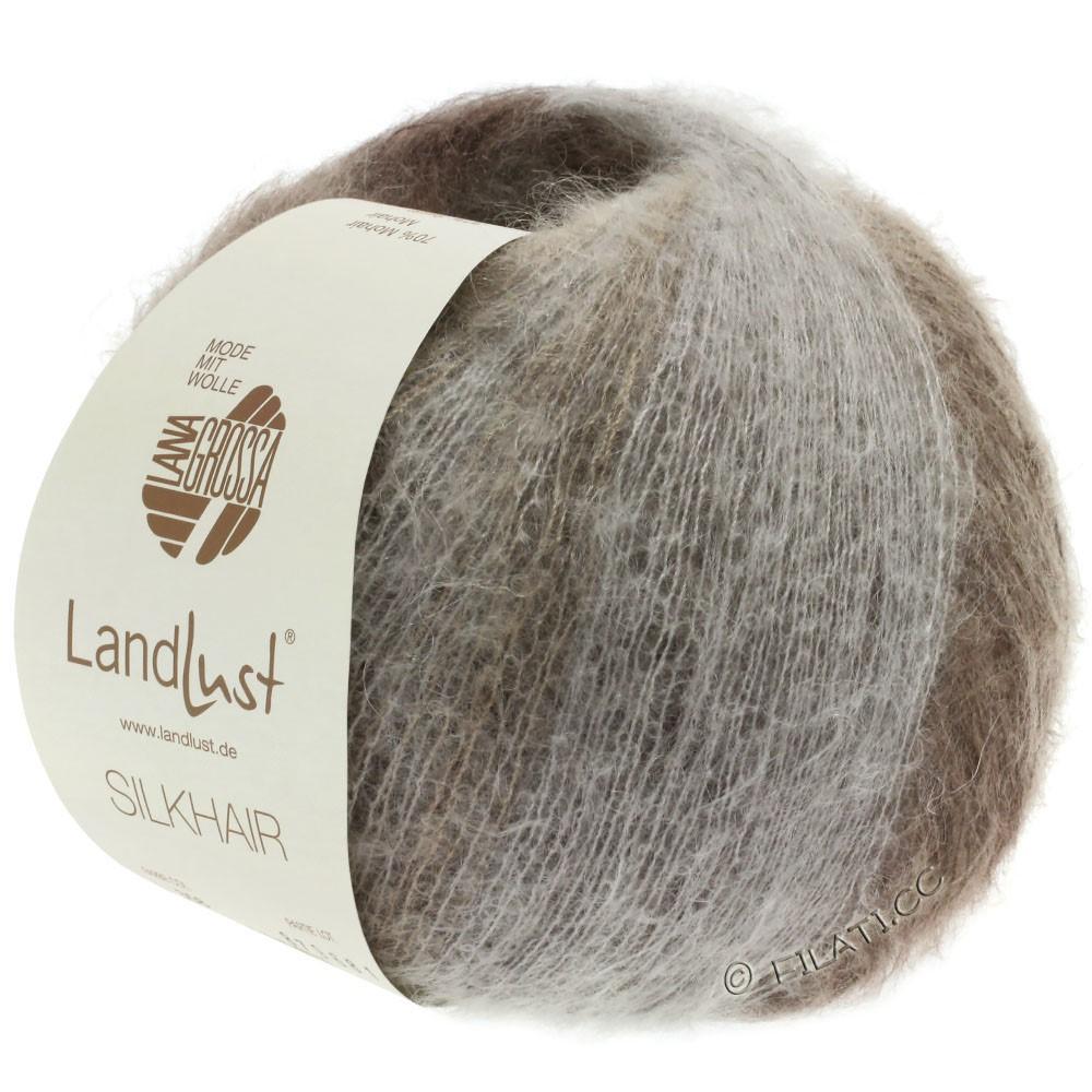 Lana Grossa LANDLUST SILKHAIR | 359-grège/brungrå/taupe/mørkebrun