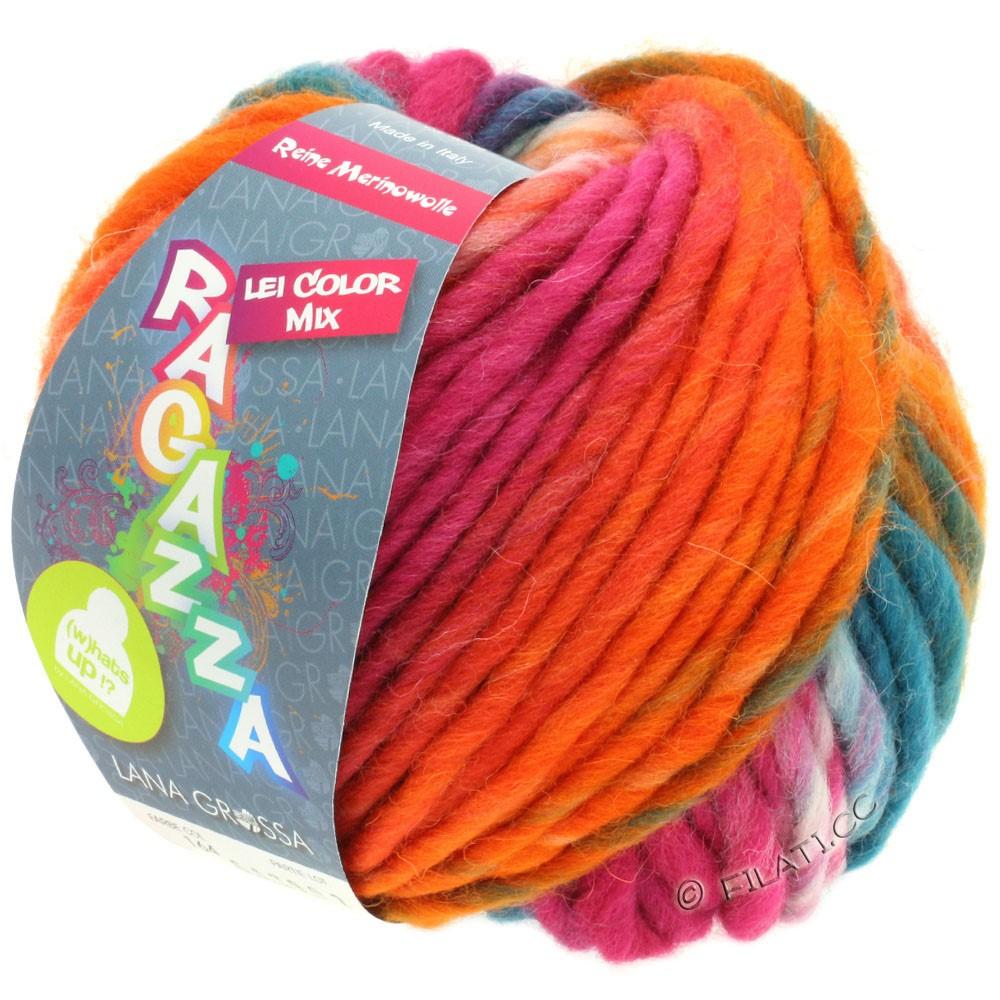 Lana Grossa LEI Mouliné/Color Mix/Spray (Ragazza)   164-koral/pink/natur/mynte/fersken