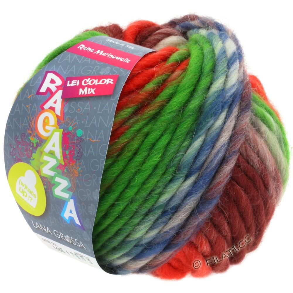 Lana Grossa LEI Mouliné/Color Mix/Spray (Ragazza)   165-koral/grøn/brun/terrakotta/jeans