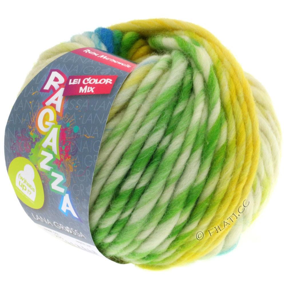 Lana Grossa LEI Mouliné/Color Mix/Spray (Ragazza) | 255-gul/natur/turkis/gulgrøn