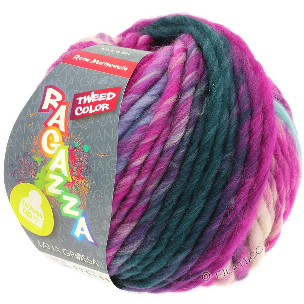Lana Grossa LEI Tweed Color (Ragazza) | 401-lyseblå/lysegrå/jeans/cyklamen meleret