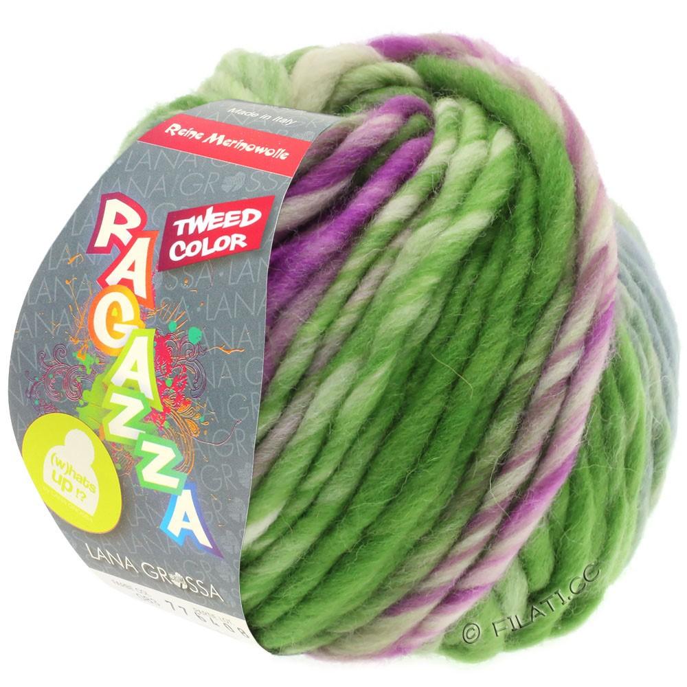 Lana Grossa LEI Tweed Color (Ragazza) | 402-blågrå/grøn/rødviolet meleret