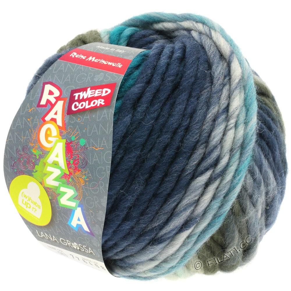 Lana Grossa LEI Tweed Color (Ragazza) | 403-lyseblå/blågrå/mørkeblå meleret