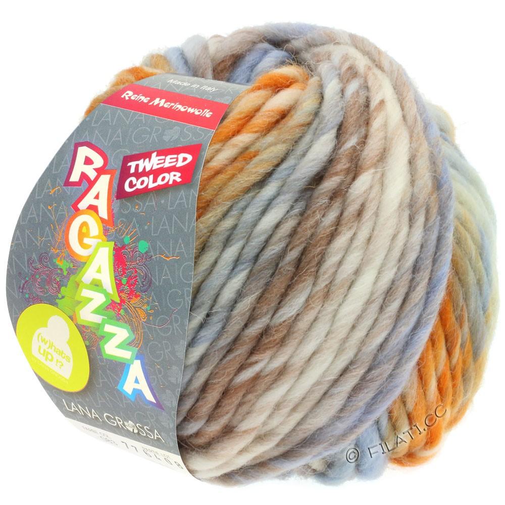 Lana Grossa LEI Tweed Color (Ragazza) | 404-natur/lyseblå/brun/orange meleret