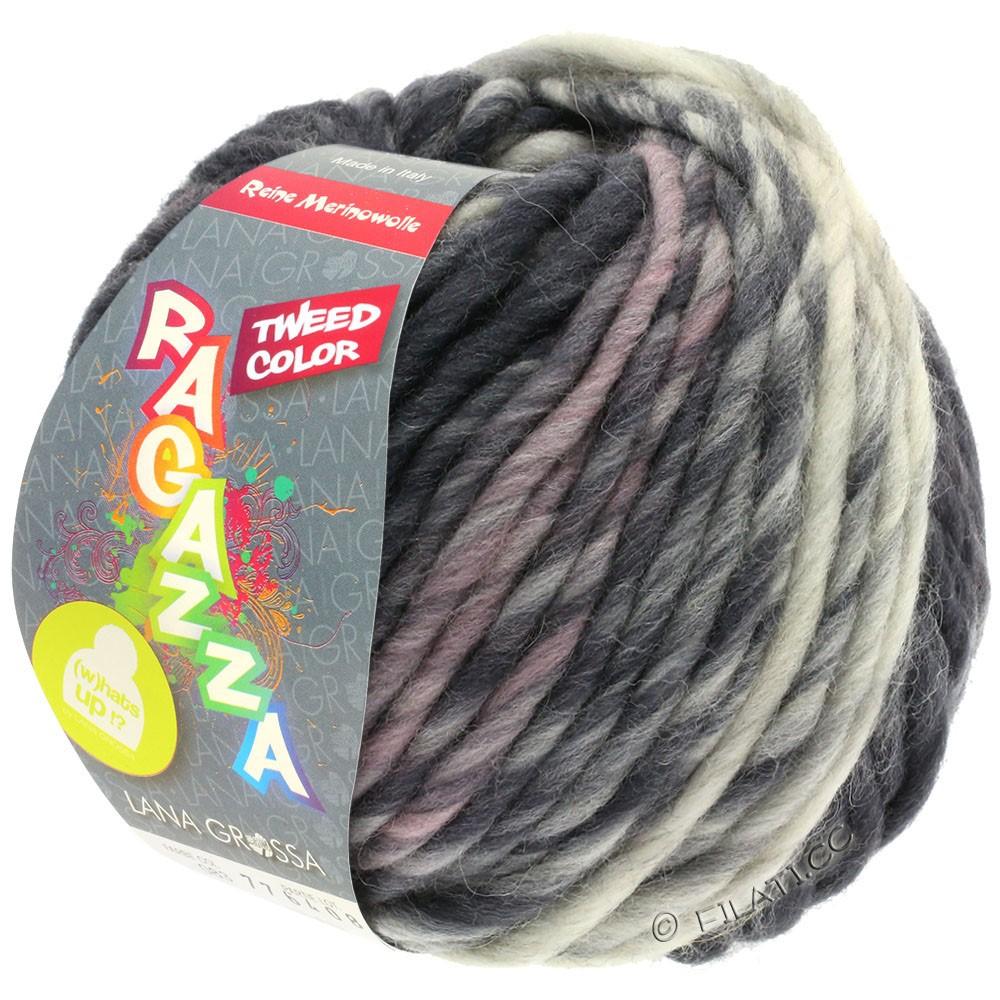 Lana Grossa LEI Tweed Color (Ragazza) | 405-lysegrå/gennemsnit grå/mørkegrå meleret