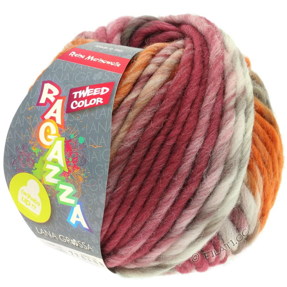 Lana Grossa LEI Tweed Color (Ragazza) | 406-natur/taupe/chokoladebrun/rosentræ/cognac meleret