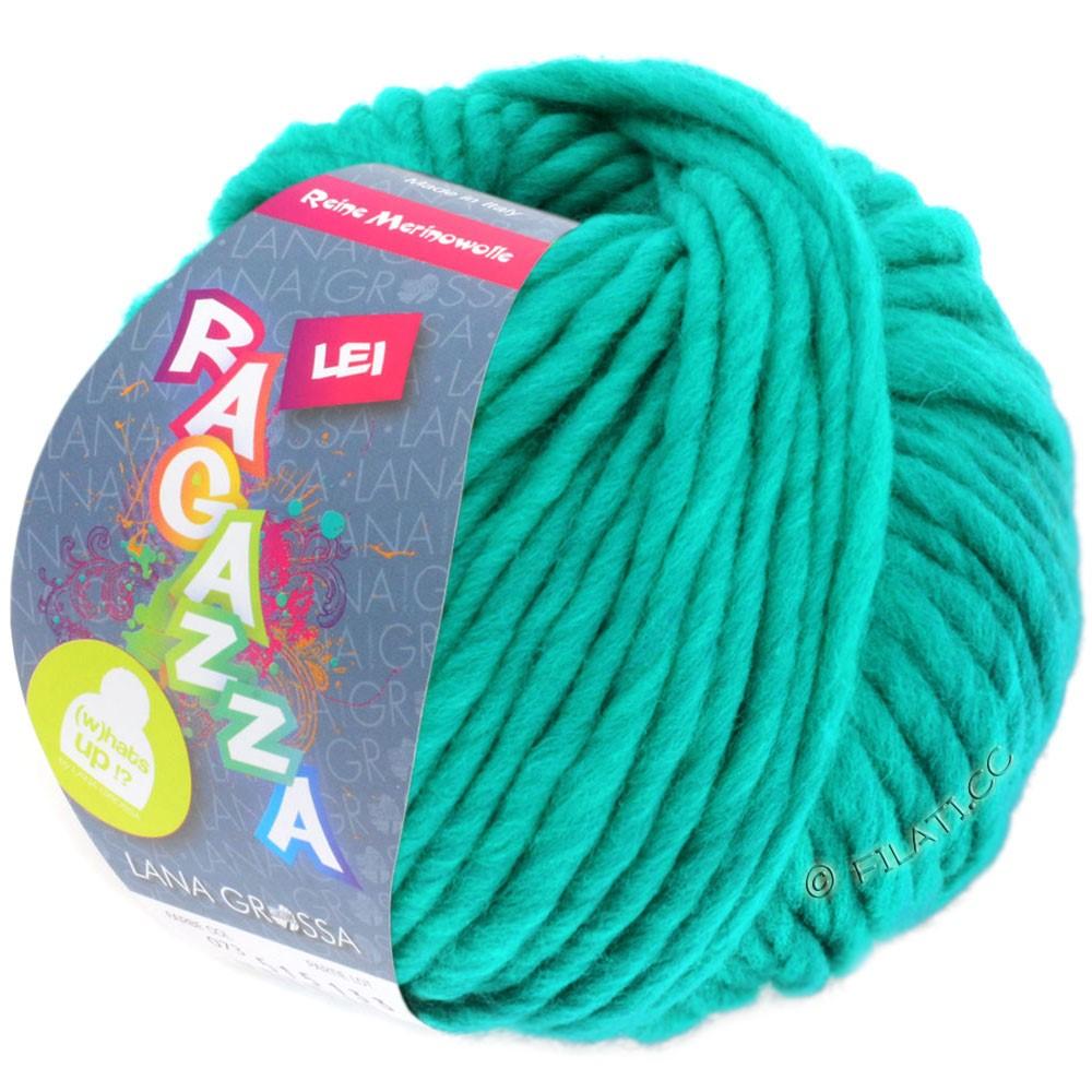 Lana Grossa LEI  Uni/Neon (Ragazza) | 076-turkisgrøn