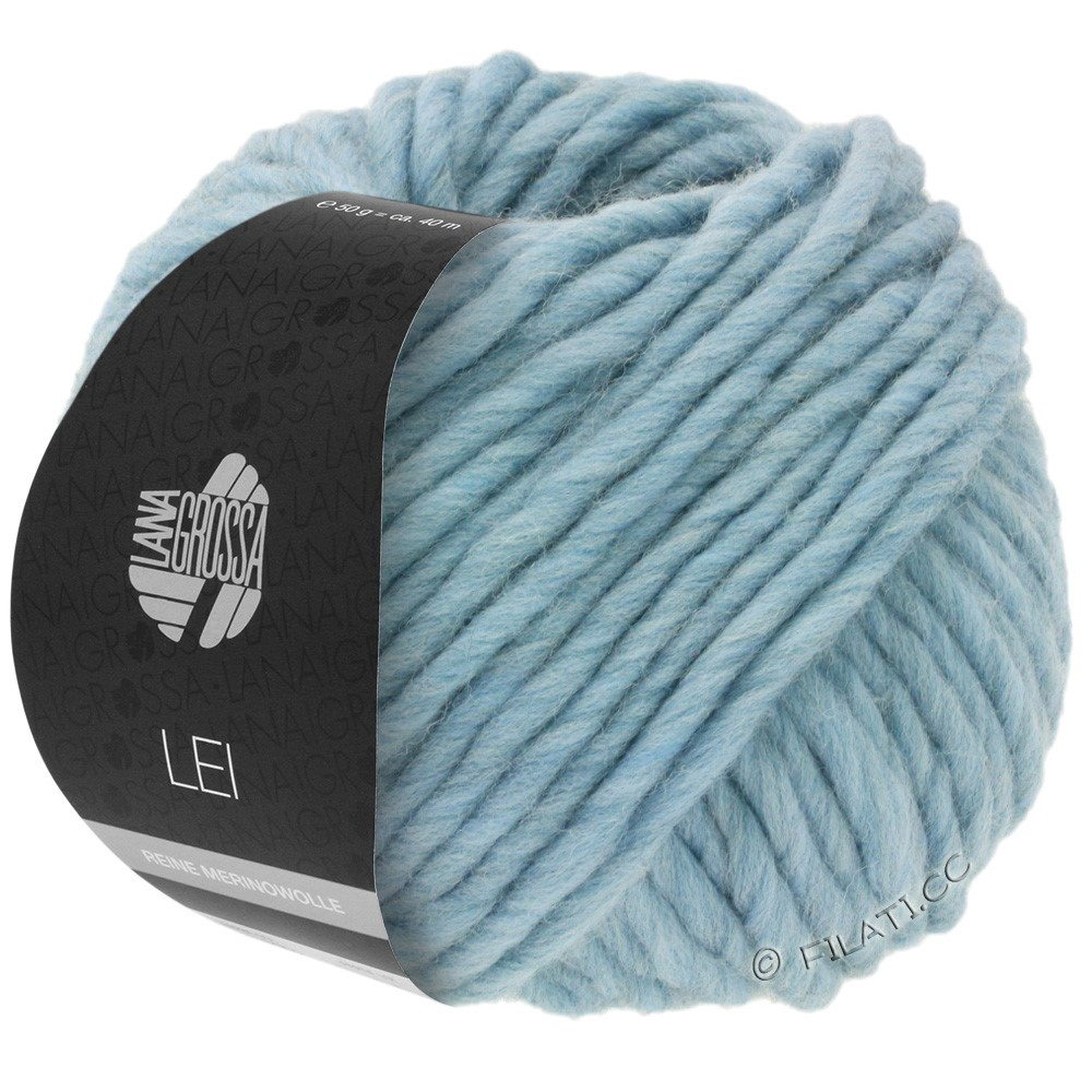 Lana Grossa LEI  Uni/Neon (Ragazza) | 084-lyseblå/grå