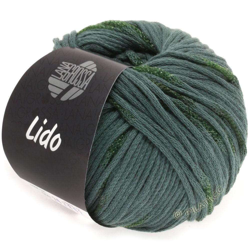 Lana Grossa LIDO   09-grågrøn/mørkegrøn