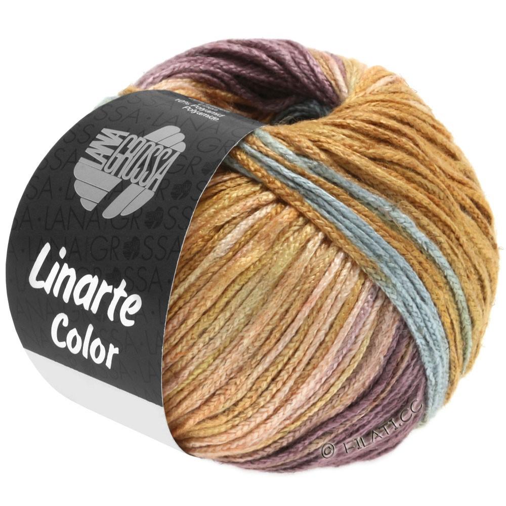 Lana Grossa LINARTE Color | 201-mintturkis/beigerød/antikviolet/okkerbrun