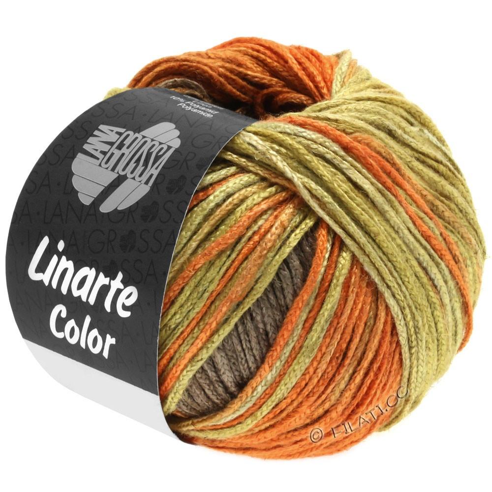 Lana Grossa LINARTE Color | 203-olivengul/signalorange/kobberbrun/gråbrun