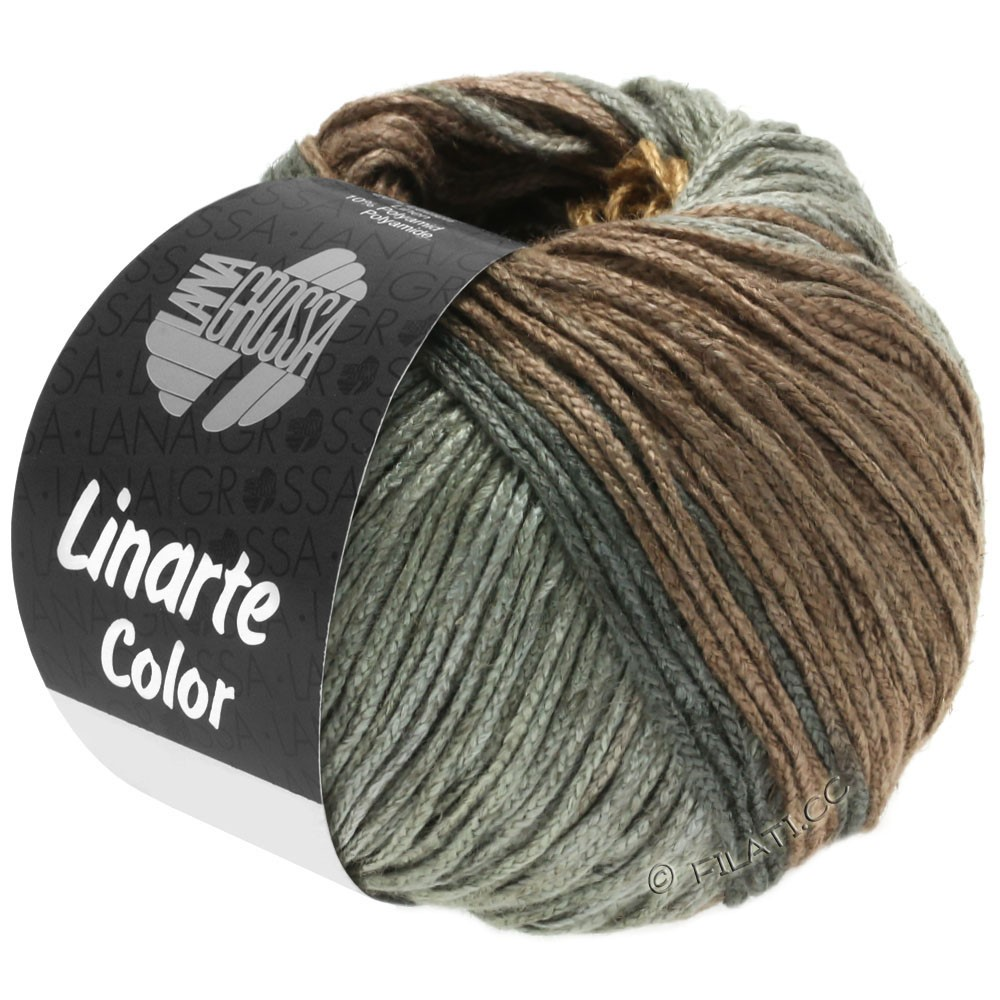 Lana Grossa LINARTE Color | 202-beige/gråbrun/grågrøn/grafit