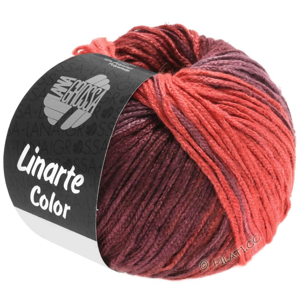 Lana Grossa LINARTE Color | 204-jordbærrød/bordeaux violet/vinrød/perlerubinrød