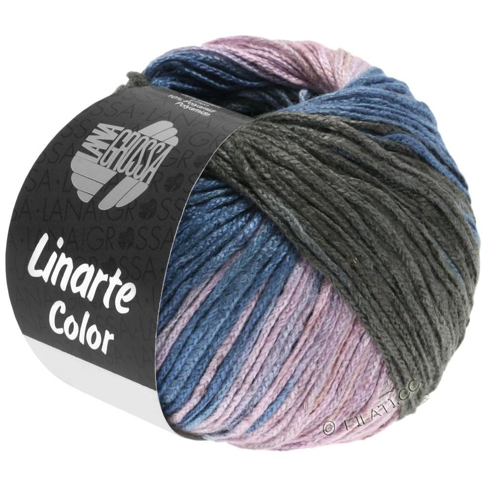 Lana Grossa LINARTE Color | 209-gråblå/grafit/rosé/kaki