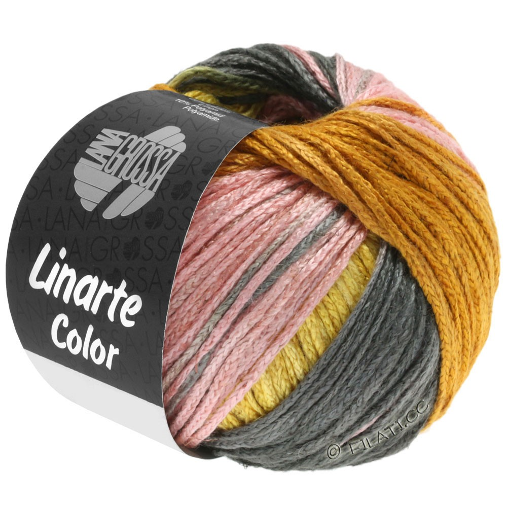 Lana Grossa LINARTE Color | 210-gyvelgul/gylden/fersken/kaki