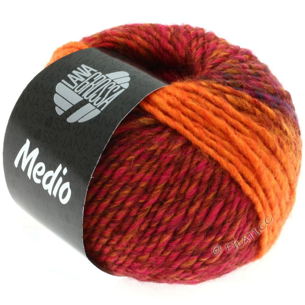 Lana Grossa MEDIO | 13-rød/blå/pink/orange/kanelbrun
