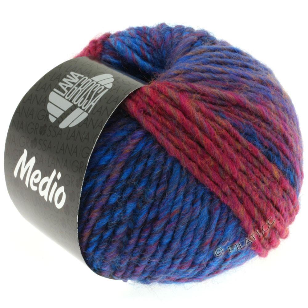 Lana Grossa MEDIO | 15-marine/blå/pink/brun/grå/aubergine