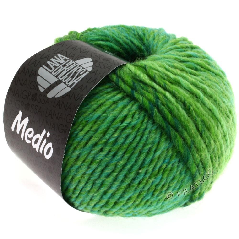 Lana Grossa MEDIO | 20-lysegrøn/æblegrøn/flaske grøn/turkis/gul