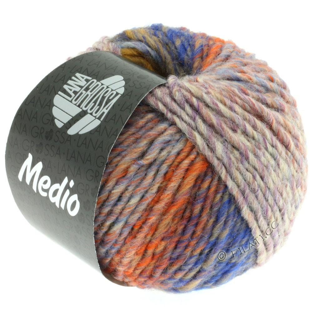 Lana Grossa MEDIO | 26-sennep/brombær/kaki/orange/grøn/lilla