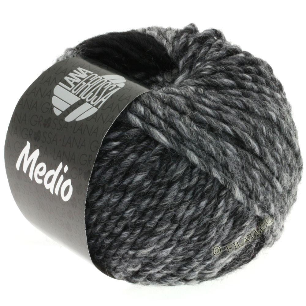 Lana Grossa MEDIO | 29-grå/grafit/hvid/antracit/lysegrå