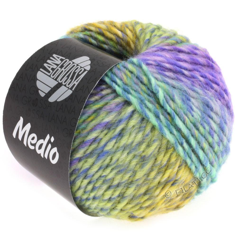 Lana Grossa MEDIO | 31-blå/turkis/rosa/lilla/gul/grågrøn/petrol