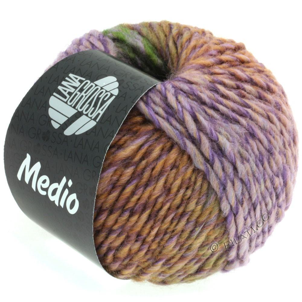 Lana Grossa MEDIO | 36-purpur grå/rosa/mørkegrøn/blå violet/lilla