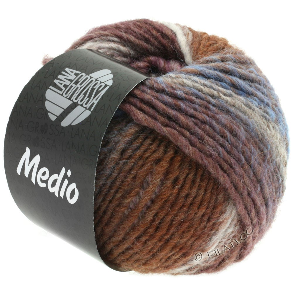 Lana Grossa MEDIO | 37-taupe/rosa/natur/gråbrun/lilla