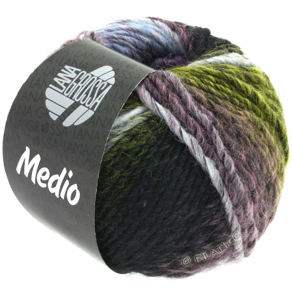 Lana Grossa MEDIO | 38-gul/antracit/rå hvid/lilla/lyseblå/fersken/mosgrøn