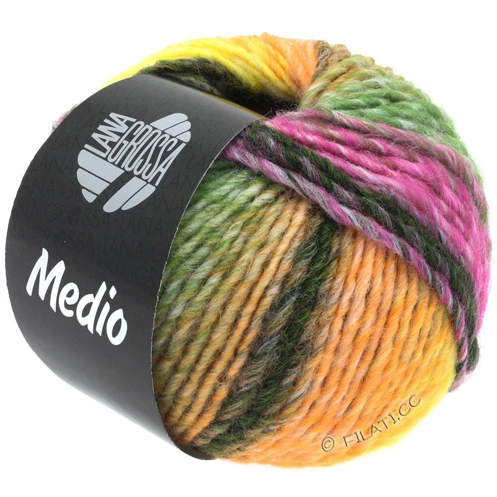Lana Grossa MEDIO | 39-fersken/gul/rå hvid/taupe/beige/mosgrøn/rødviolet
