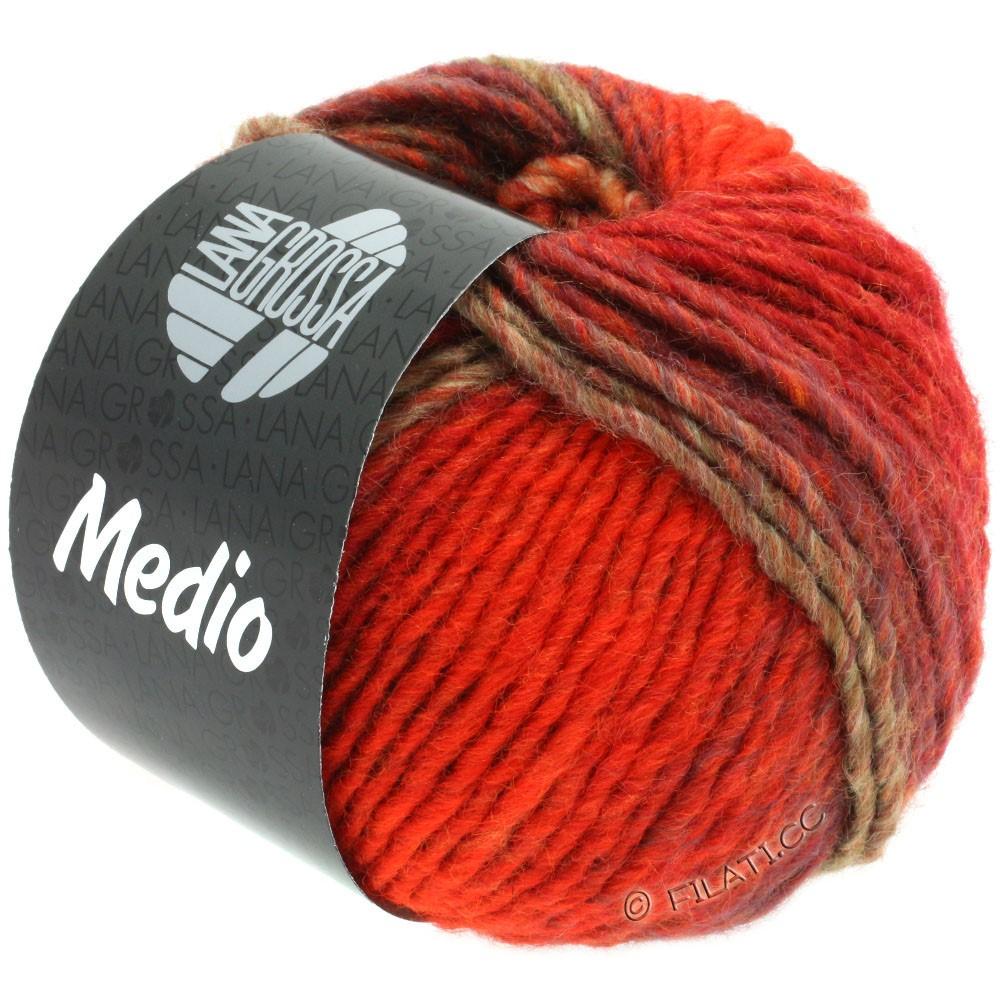 Lana Grossa MEDIO | 42-rød/bordeaux/grøngrå/lilla/orange