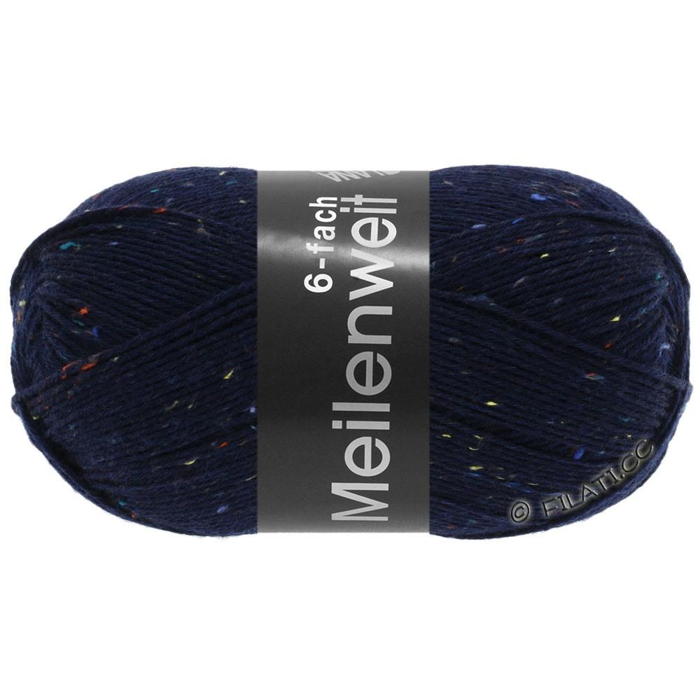 Lana Grossa MEILENWEIT 6-FACH 150g Print/Tweed | 8816-natblå meleret