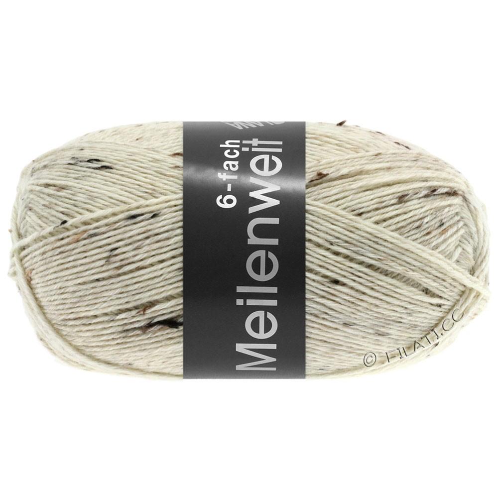 Lana Grossa MEILENWEIT 6-FACH 150g Print/Tweed | 8817-natur meleret