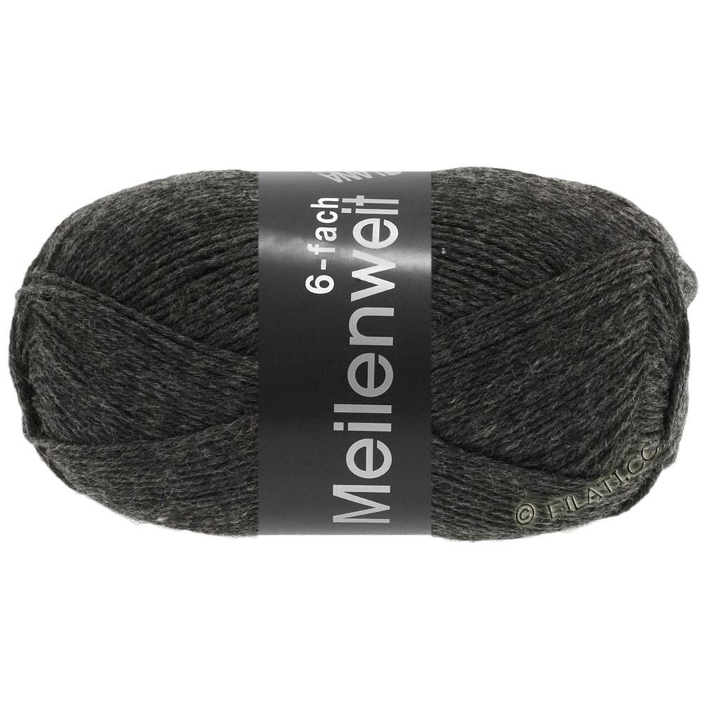 Lana Grossa MEILENWEIT 6-FACH 150g Uni/Tweed | 8853-antracit