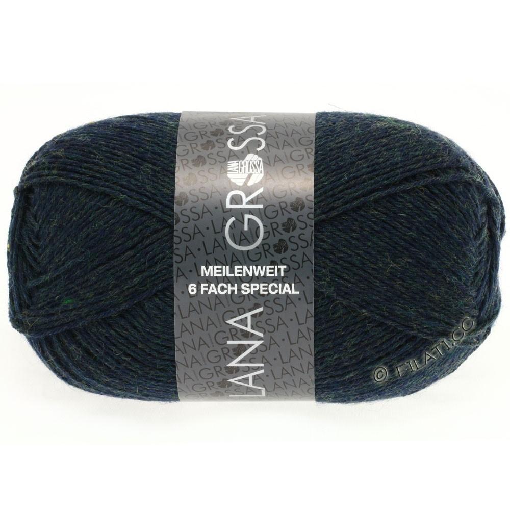 Lana Grossa MEILENWEIT 6-FACH 150g Uni/Tweed | 8886-sortgrøn