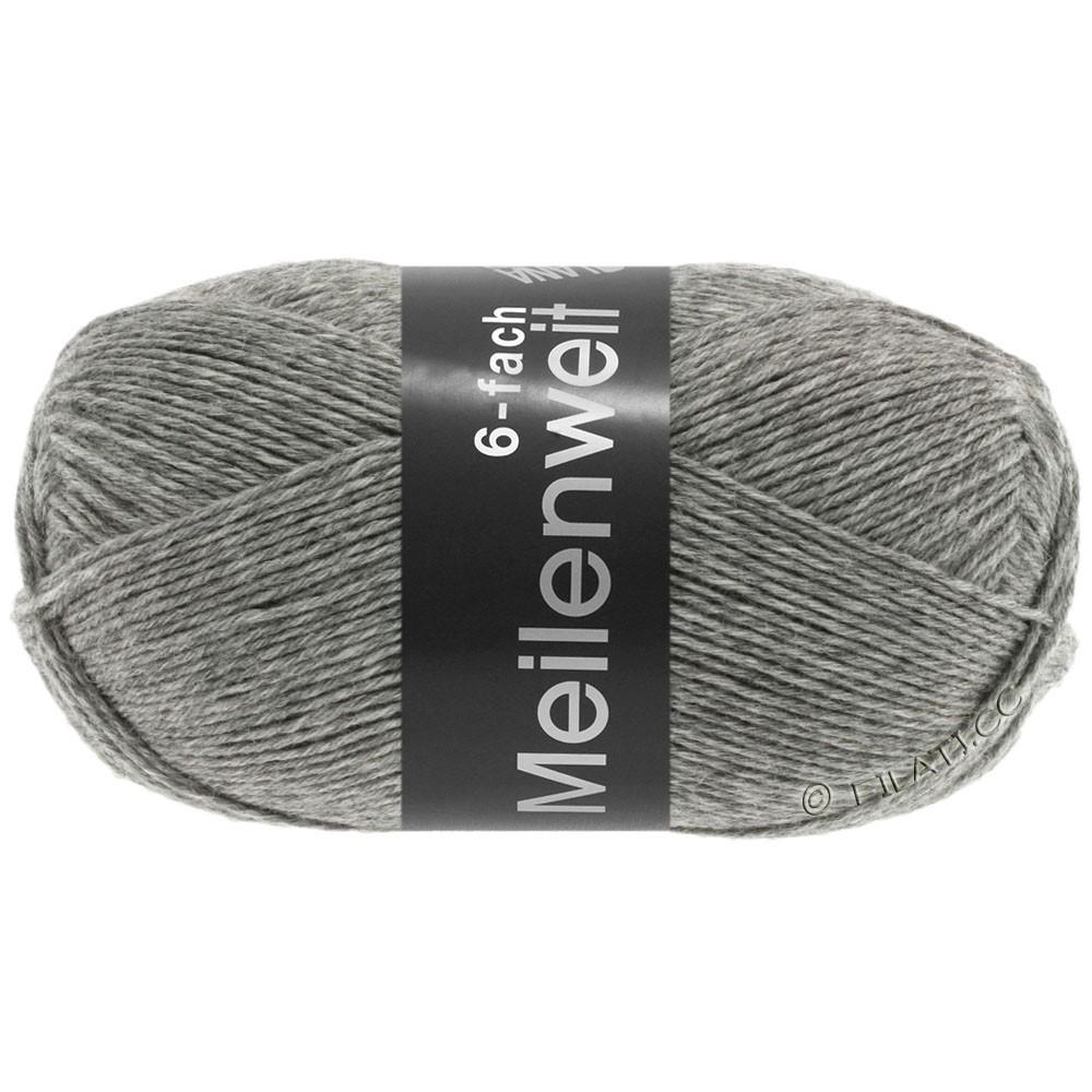 Lana Grossa MEILENWEIT 6-FACH 150g Uni/Tweed | 8961-grå meleret