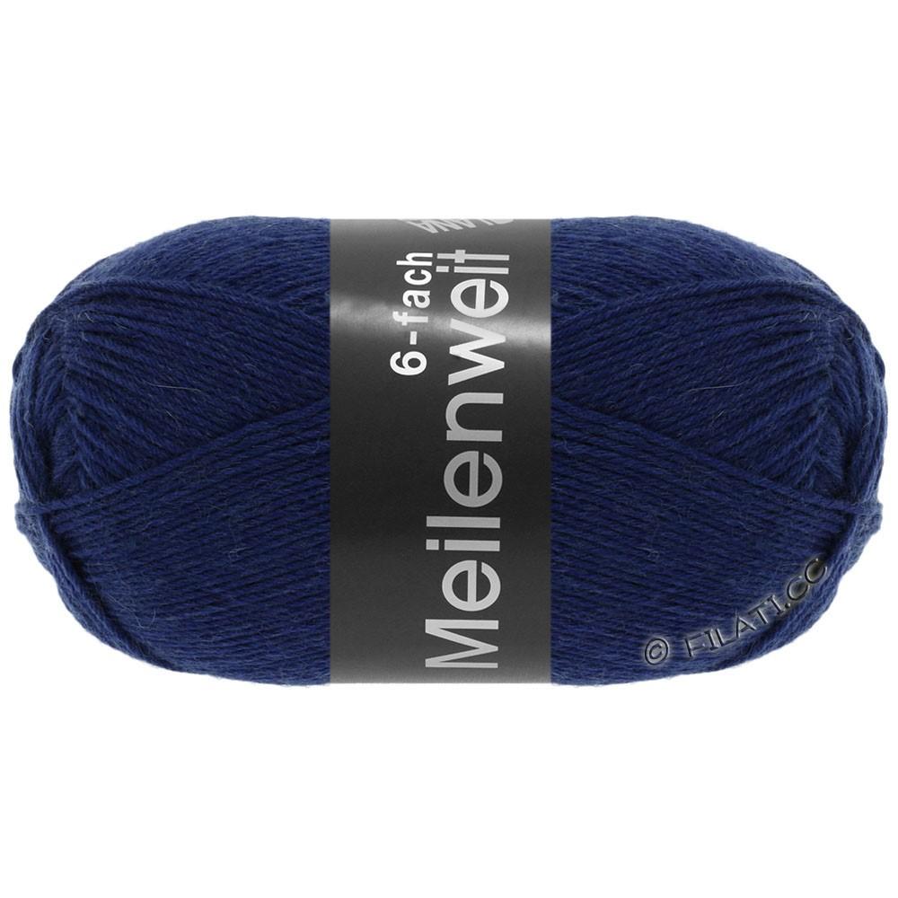 Lana Grossa MEILENWEIT 6-FACH 150g Uni/Tweed | 8962-mørkeblå