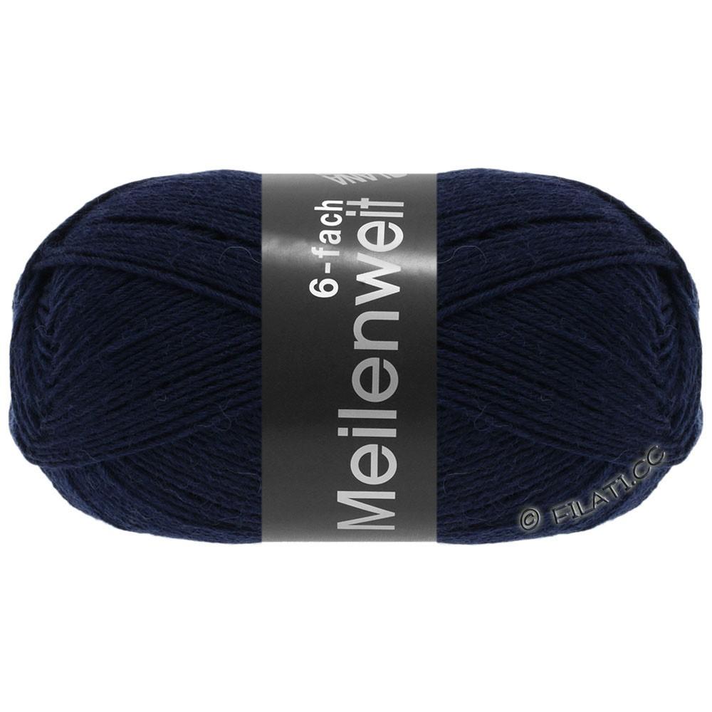 Lana Grossa MEILENWEIT 6-FACH 150g Uni/Tweed | 8963-natblå