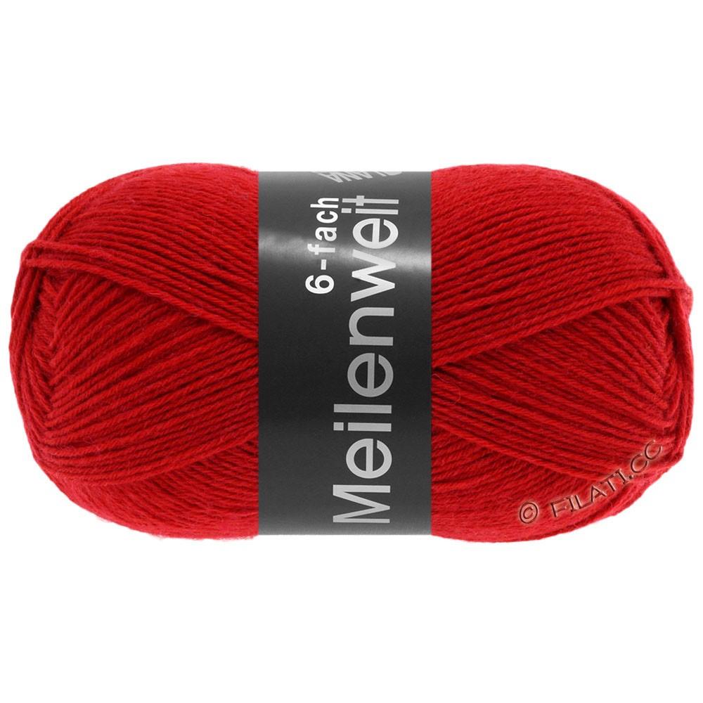 Lana Grossa MEILENWEIT 6-FACH 150g Uni/Tweed | 8966-rød
