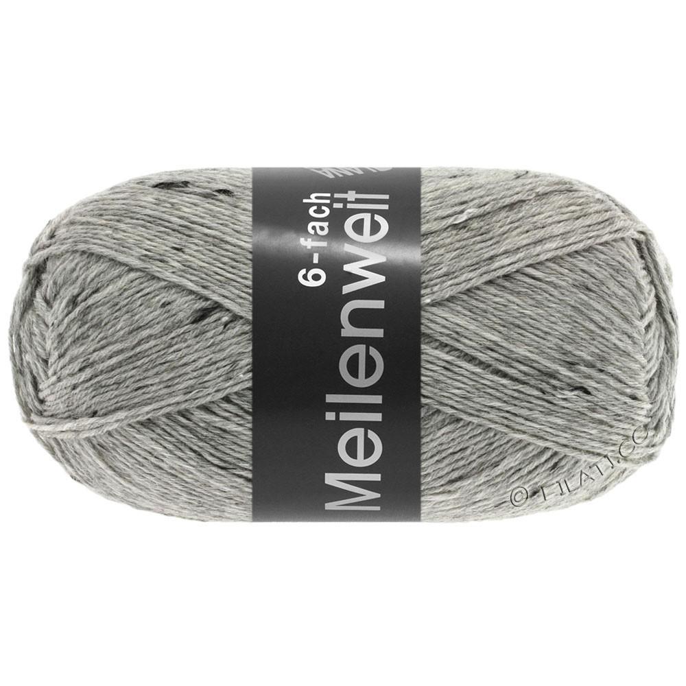 Lana Grossa MEILENWEIT 6-FACH 150g Print/Tweed | 8972-lysegrå meleret