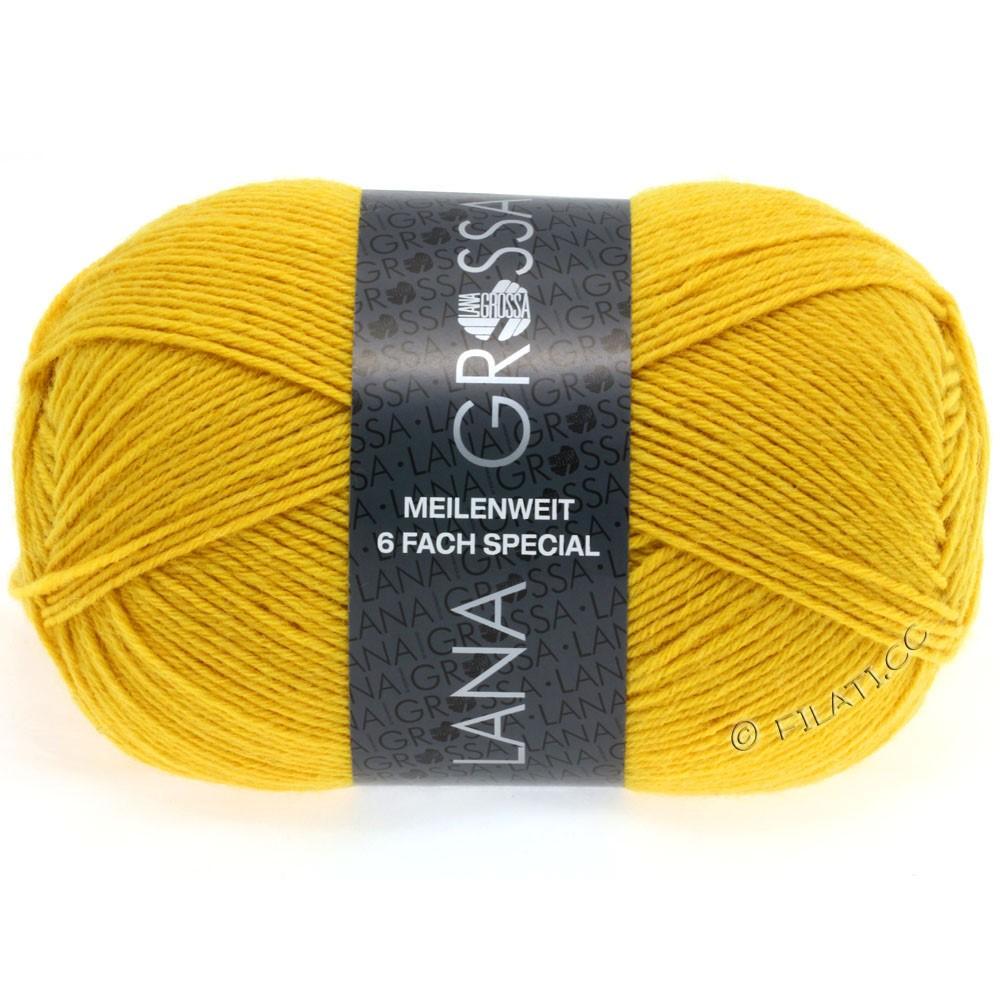 Lana Grossa MEILENWEIT 6-FACH 150g Uni/Tweed | 9043-gul