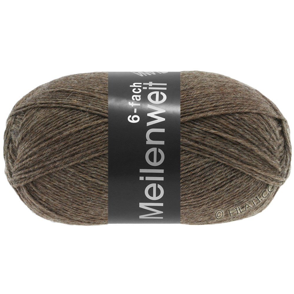 Lana Grossa MEILENWEIT 6-FACH 150g Uni | 9103-brun