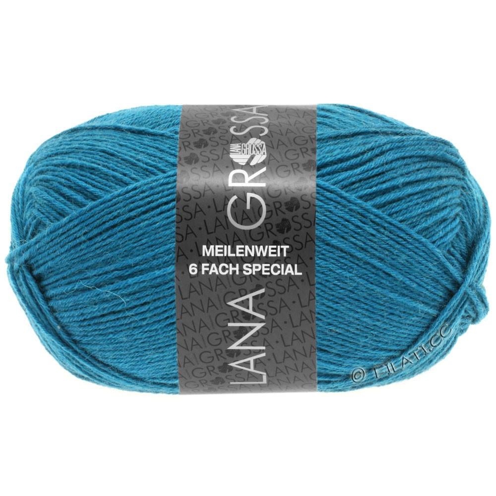 Lana Grossa MEILENWEIT 6-FACH 150g Uni/Tweed | 9218-petrol blå