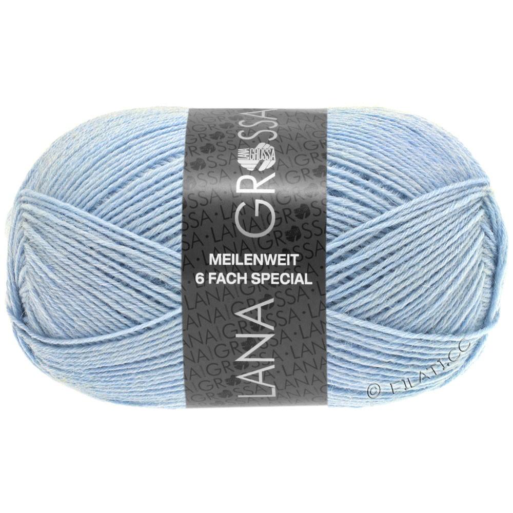 Lana Grossa MEILENWEIT 6-FACH 150g Uni/Tweed | 9219-lyseblå